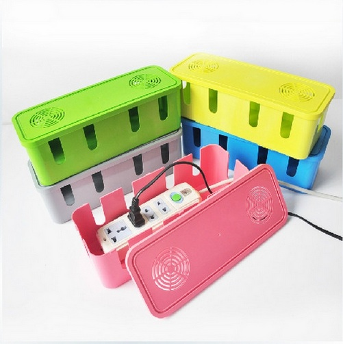Fashion Multi Power Plug Socket Anti-dust Storage Box Cable Wire Cord Organizer FreeShipping Case Box kids Electrical Safety Box