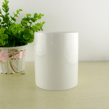 "4.7"" tall simple cylinder white succulent planter pots chinese factory wholesale european design ceramic stoneware flower pot"