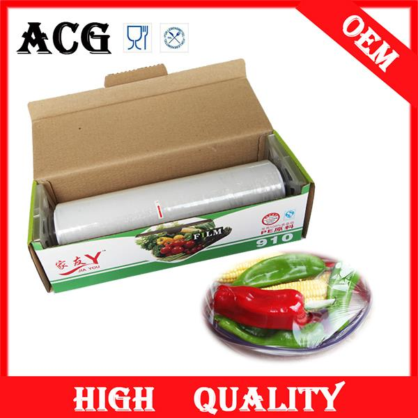 competive price pe plastic wrapping paper roll for food