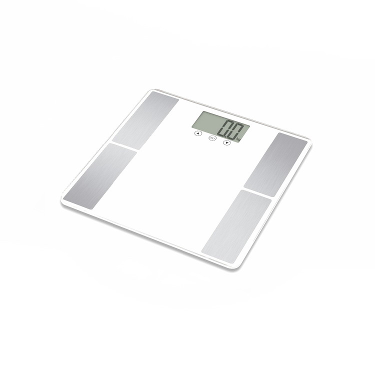 weighing tempered glass LCD display bathroom body fat scale