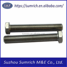 Customized high precision OEM CNC stainless steel hex head bolt 304