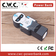 wholesale shenzhen factory cutstom design human shape power bank,china new innovative product 2200MAH-2600MAH