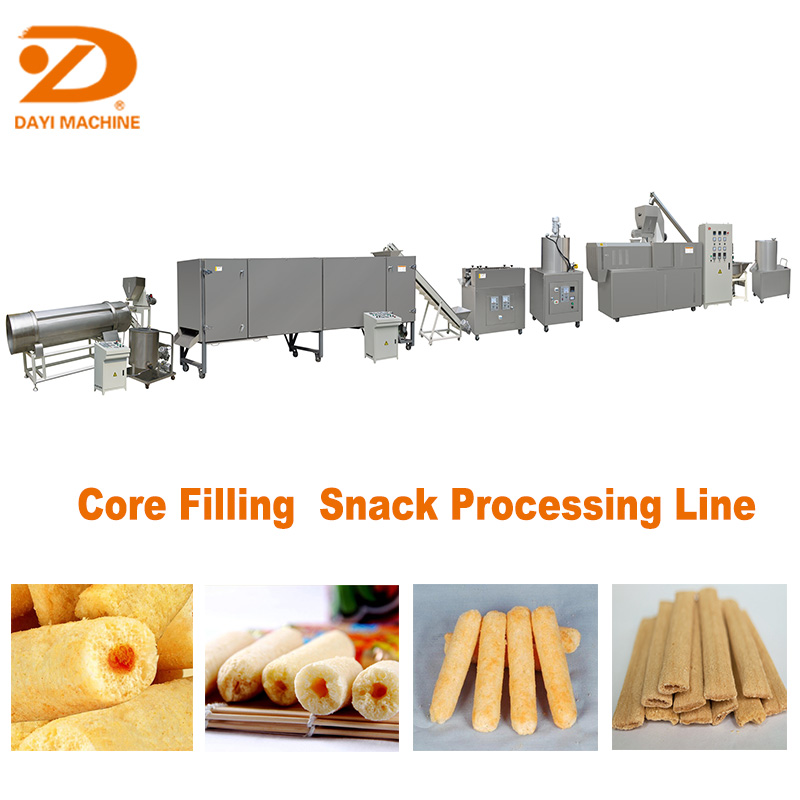 Big capacity food snack extruder/Snack Food Machine/Snack extruder processing line with 350kg/h from Jinan