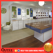 Retail mobile phone shop interior furniture design decorative cell phone store