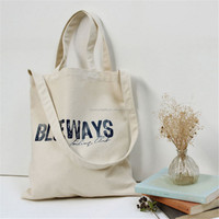 New Women Girl Printing Canvas Shoulder Shopping Eco Bag wholesale