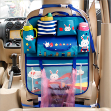 Multi-purpose cute design front or back seat kids car organizer from Shanghai manufacture