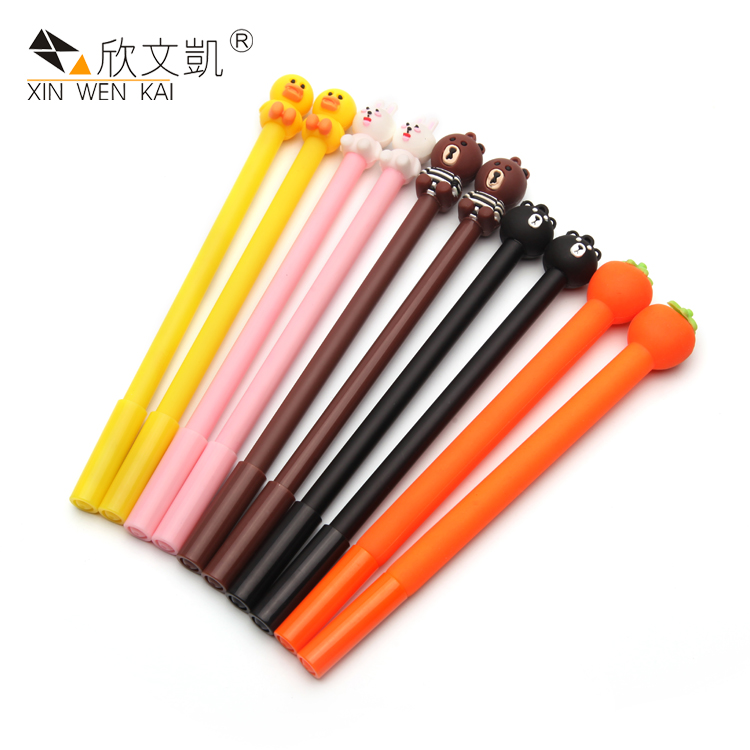 Wholesale Creative Cartoon Cute Cat Design Gel Ink Pens Student Stationery Gel Pen