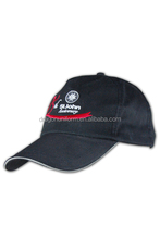 High quality custom embroidered cotton 6 panel Baseball Cap