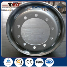 truck bus tubeless stainless steel wheel rims 22.5x8.25 22.5x9.0