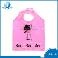 Polyester Fold Up Shopping Bags/190t Polyester Shopping Bag/Promotional Foldable Polyester Shopping Bag