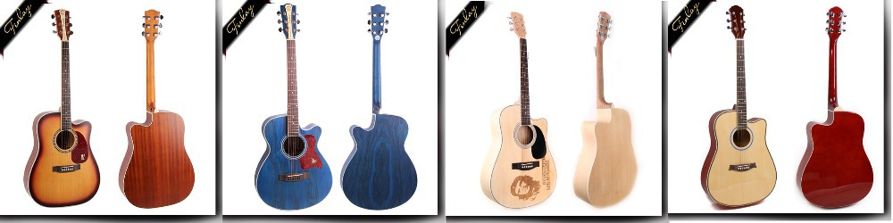 foshan factory price 40'' cutaway electric custom string musical instrument acoustic guitar