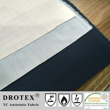 EN1149-3 T/C 65/35 Twill Antistatic Water Stain Resistant Fabric for Medical Uniform