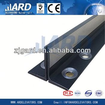 T70-1/B machined guide rail , elevator parts