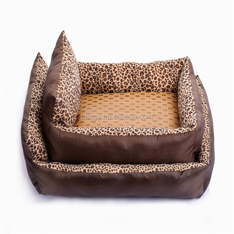New Leopard Pillow Pet Nest Canopy Beds For Dogs