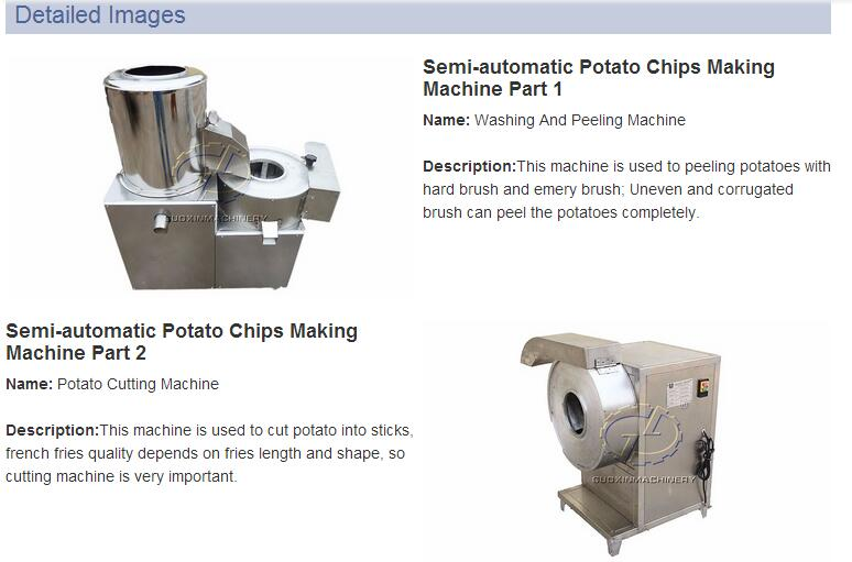 Hot sales in America Market Fully Automatic Potato French Fries Making Machine