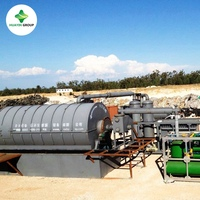 Scrap Tires Pyrolysis/Recycling Machine Also Process Plastic Waste to Crude Oil