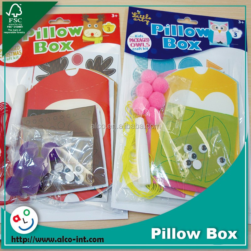 High quality animal design pillow shape packaging box for kids activity