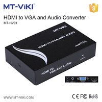 MT-HV01 rca composite video to vga converter vga input hdmi output converter hdmi to vga converter