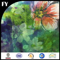 flora digital print design digital printed silk fabric with your own design