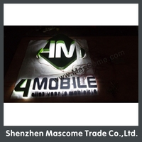 Back illuminated neon sign for many advertisement signboard