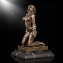 Home decor girl statue metal nude women erotic bronze sculpture for sale