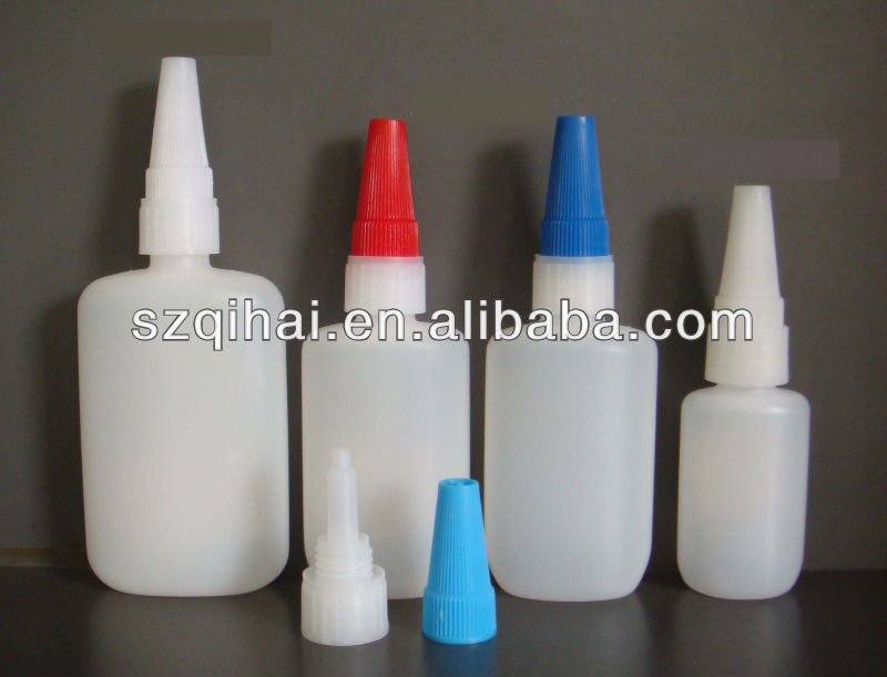 Empty 50ml HDPE Cyanoacrylate Adhesive & Super Glue Plastic bottles JB-001