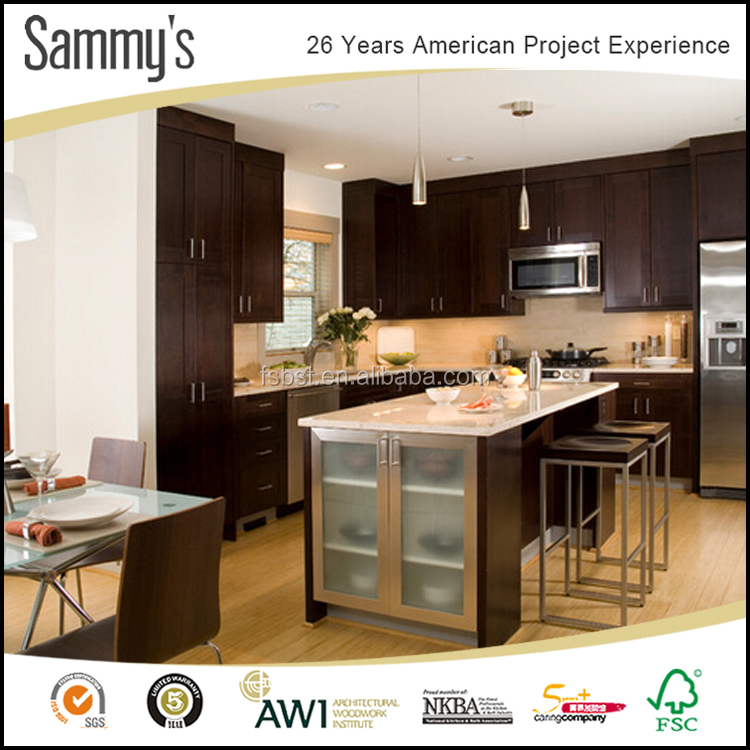 American style sammys factory made frameless water resistant rta kitchen cabinets wholesale price