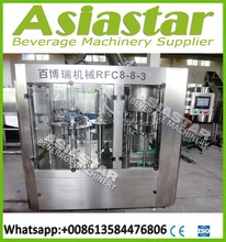 Small bottle washing filling capping machine for mineral water 2000BPH(8-8-3)