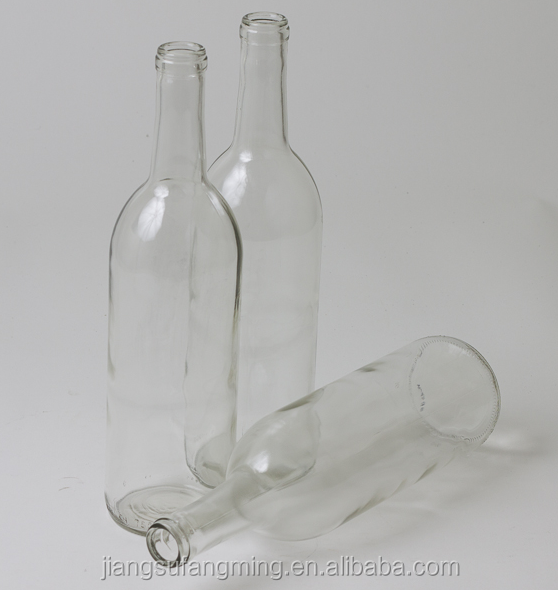 750ml Clear Screw Top Bordeaux Wine Glass Bottle