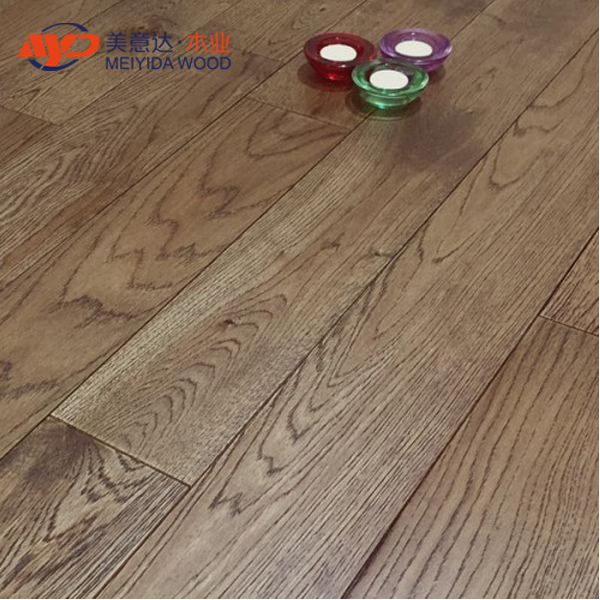 Smoke Stained Oak Brushed Matt Lacquer 18mm Engineered Flooring