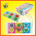 6 IN 1 HEART SHAPE GUMMY SOFT CANDY BALLS IN TRAY PACKING