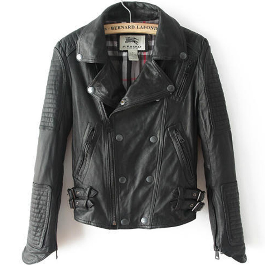 Men Women Lucky Srike Motorbike Leather Jackets In Second Hand