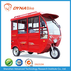 Factory Price Lead Acid Storage Battery Electric Tricycle Passenger Motorcycle with Roof