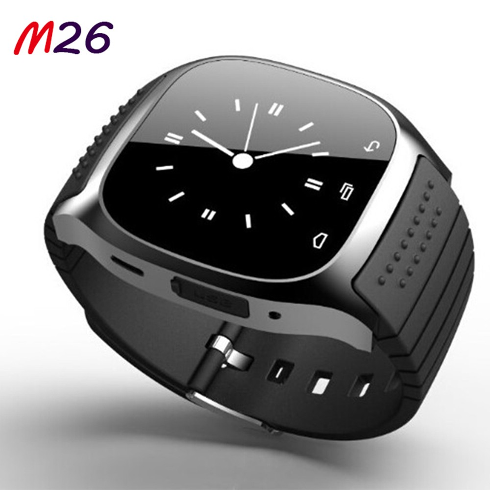 Cheap Bluetooth Smart Watch M26 with Dial / SMS Reminding / Music Player / Pedometer for Mobile Phone