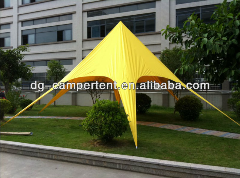 outside star yellow canopy tents