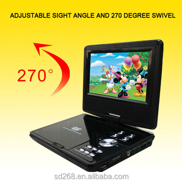 "7"" Portable DVD Player 7IN1 TV Tuner/VGA/Game/Card Reader/USB/MPEG4"