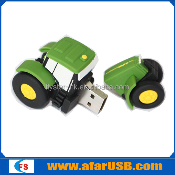 Customize 4gb 8gb 16gb pvc cartoon 3D Car shape usb memory stick
