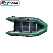 Heavy duty army green rowing boats inflatable fishing