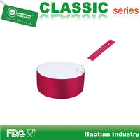 Populared Ceramic Coatng With Colorful Exterior Painting Mini Cook Pot