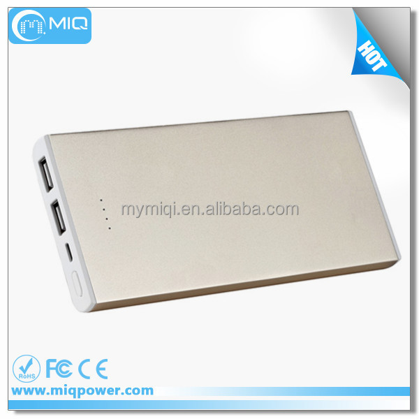 MIQ Simple design long lasting high capacity power bank super slim 12000mah power bank for notebook