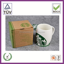 Printed 8 oz ceramic mug packaging with window paper box