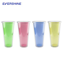 Super grade disposable colored plastic cups for shakes mug