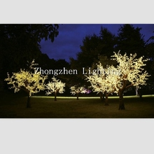 artificial outdoor artificial flower with led lights
