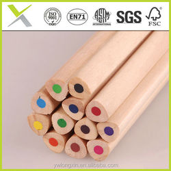 Natural wooden pencil with OEM logo , high quality color pencil