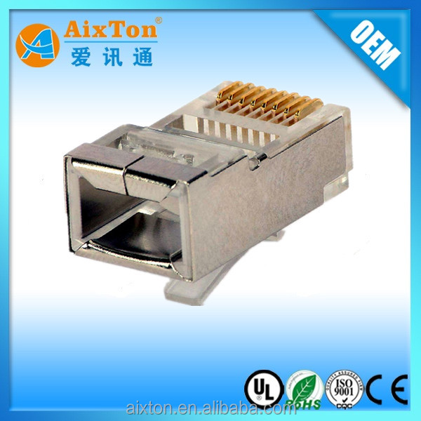 8 PIN RG45 RJ45 CAT6 METAL SHIELDED CONNECTOR