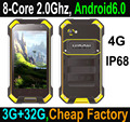 2017 Popular Android 6.0 Octa-Core 4G Rugged Smartphone, rugged smart phone,military grade phone with NFC PTT SOS