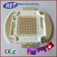 China LED manufacturer supplying plants grow COB LED Chip 660nm Red LED
