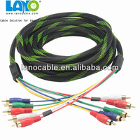 RGB cable fabric 3 rca to 3 rca audio cable