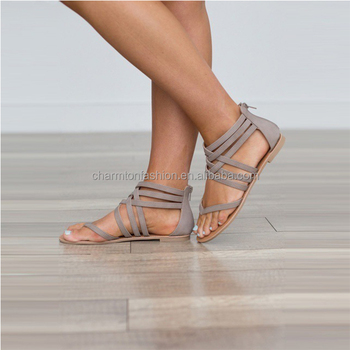 Wholesale New Arrival Personlized Hot Sale Monogram Woven Women Gladiator Sandals
