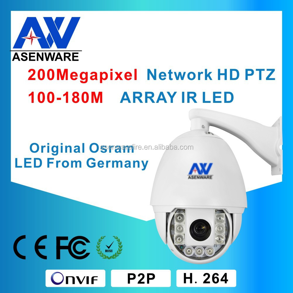 Outdoor IP66 CCTV camera 2.0 Megapixel 1080P Ptz High Speed IR 120m Mobile View IP Dome Camera